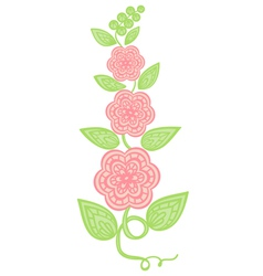 flowers and leaves element imitation guipure embro vector image