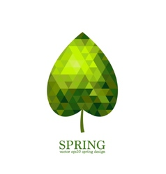 Green mosaic leaf vector
