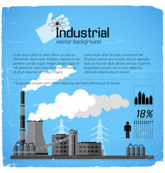 industrial building background vector image