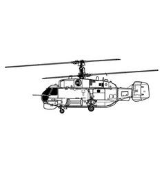 kamov ka-27 helix vector image