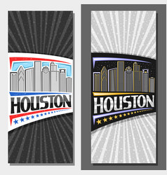 layouts for houston vector image