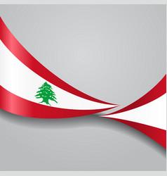 Lebanese wavy flag vector