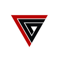 Letter c g modern vector