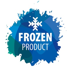 logo with snowflake for the frozen products vector image