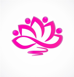 Lotus flower icon logo vector image