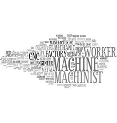 Machinist word cloud concept vector