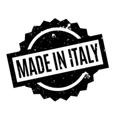 Made in italy rubber stamp vector