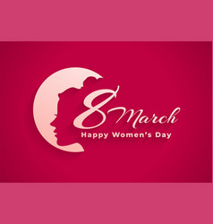 March 8th international happy womens day banner vector