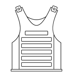 Military vest icon outline style vector