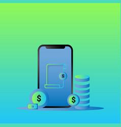 Modern finace mobile background vector
