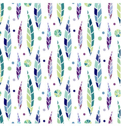 Modern seamless stylized leaf pattern bright vector