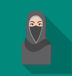 Niqab icon in flat style isolated on white vector