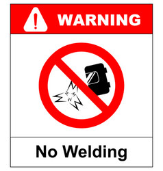 No welding sign isolated on vector