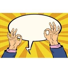 OK gesture hand okay vector image