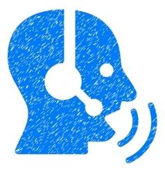 Operator Speech Sound Waves Grainy Texture Icon vector