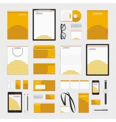 Orange circles corporate style template vector