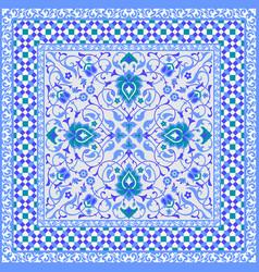 ornamental tile design vector image