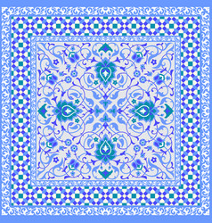 Ornamental tile design vector