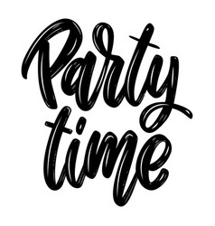 Party time lettering phrase isolated on white vector
