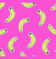 Pink seamless banana pattern vector