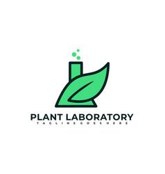plant laboratory design template vector image