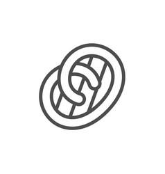 pretzel line outline modern icon vector image
