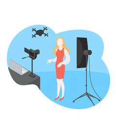 Professional digital software for video blogger vector
