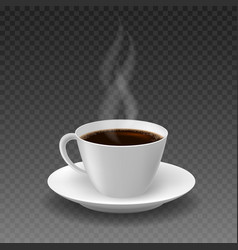 realistic morning coffee cup vector image