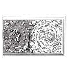 Renaissance ornament is a relief on the tomb of vector