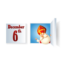 Saint nicholas day at december on advent calendar vector