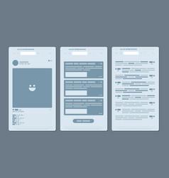 Samples user interface vector