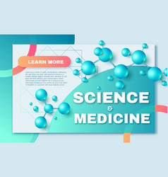 Science and medicine abstract background with 3d vector