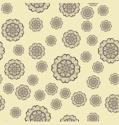 Seamles print with round shapes vector
