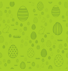 seamless pattern with easter ornaments vector image