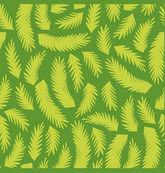 Seamless pattern with stylized tropical leaves vector