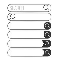 Search bar element design set search boxes vector