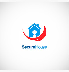 secure house company logo vector image