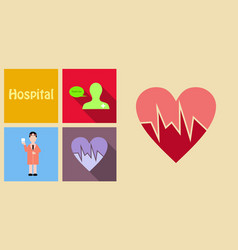 set of medecine icons on sand background included vector image