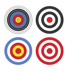 shooting target icon set on white background vector image