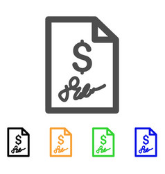 signed bill flat icon vector image