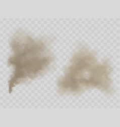 Smoke or dust clouds isolated realistic vector
