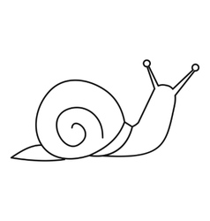 Snail icon outline style vector image