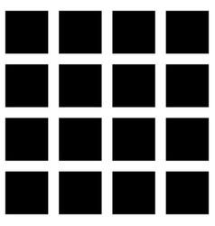 square geometric seamless pattern memphis style vector image