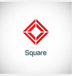 square target geometry logo vector image