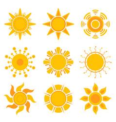 sun graphics summer weather sunshine symbols vector image
