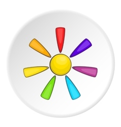 Sun in colours of lgbt icon cartoon style vector
