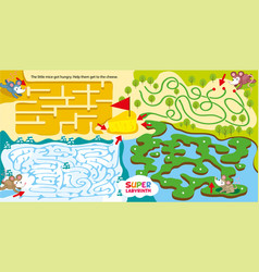 Super maze for kids childrens labyrinth game vector