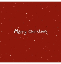 Text design of Merry Christmas on red color vector image