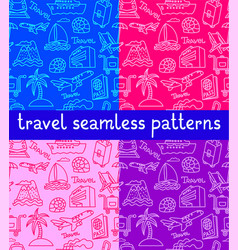 travel seamless patterns vector image
