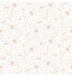 Vintage beige turkish floral seamless vector